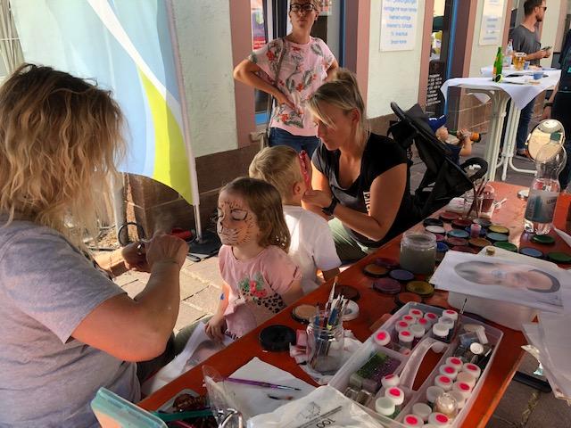 Kinderschminken auf dem 40. Gerlinger Straßenfest 2019